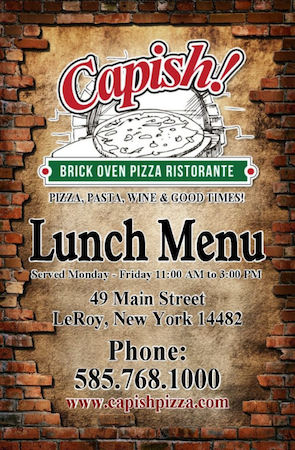 capish lunch menu